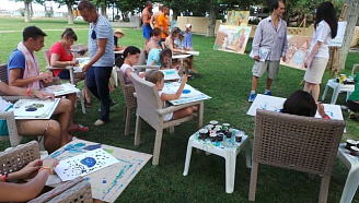 Art master-class for children